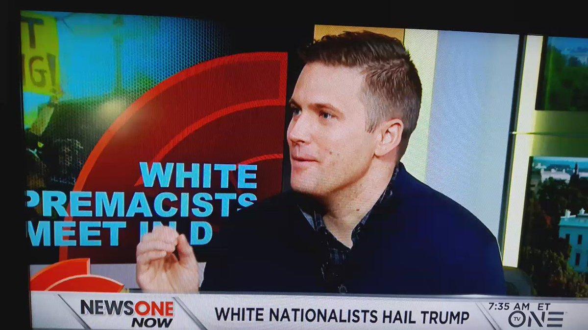 White Nationalist addresses on @rolandsmartin 's #NewsOneNow https://t.co/1auFvHSbKm