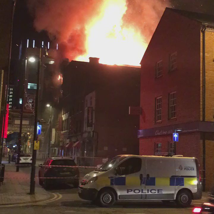 Big fire in Chinatown #Manchester