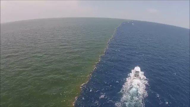 ミシシッピ川の水とメキシコ湾の海水が合流する地点がスゴイと話題に…