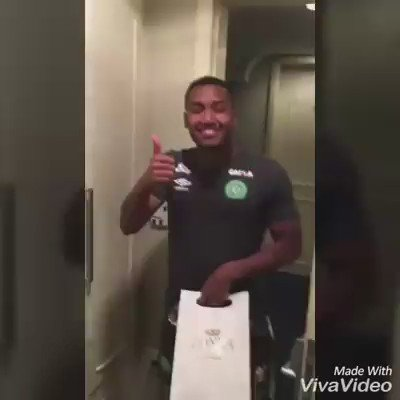 Chapecoense striker Tiaguinho told he would be a father last week. His family has released video of him finding out  https://t.co/5Jba1tnzuj