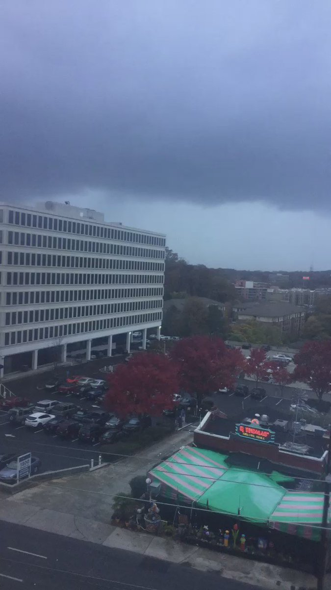Bad storm just rolled through #Atlanta. Here's the view from the #ttwn office in #buckhead #tornado #storm #weather https://t.co/uZ5v05sqmE