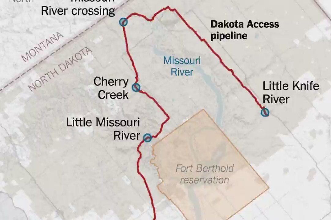 A detailed map of the Dakota Access Pipeline that's led to months of clashes near Standing Rock