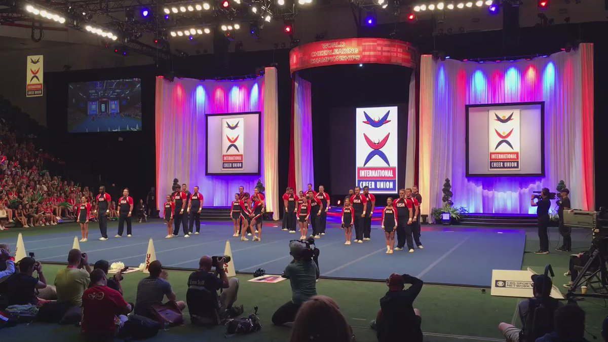 for anyone that says 'cheerleading isn't a sport' look at this amazing routine ��