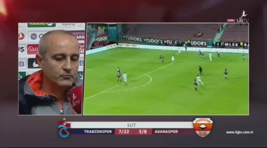 Adanaspor hocası Eyüp Arın... Aslında ben pek hakemler hakkında konuşmayı sevmiyorum ama dememiş direk dalmış :) https://t.co/aFu32JCLGH