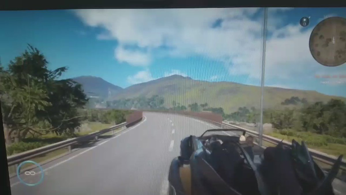 And this sums up my experience so far inside the flying car. #FFXV https://t.co/lPcbnma6NV