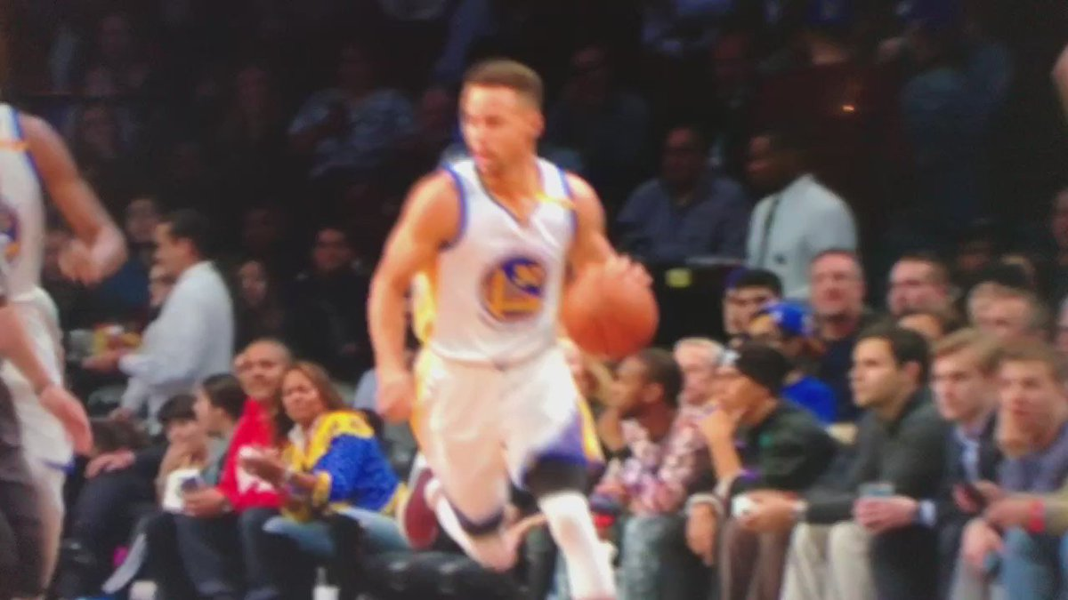 Steph Curry is not human. These are Alien reflexes.