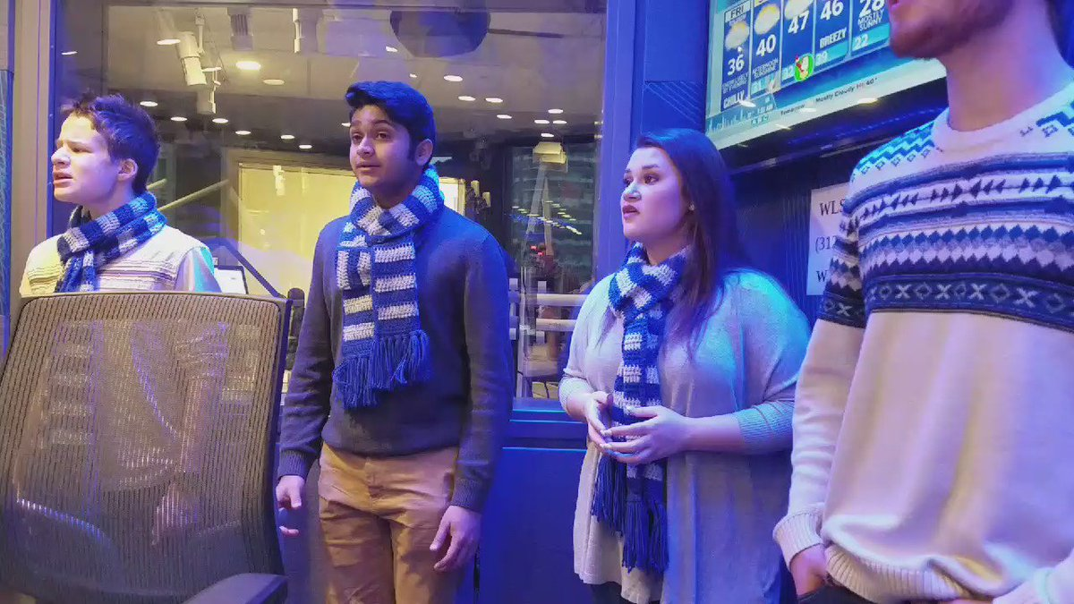 The Vernon Hills HS Choir is on the @JohnHowellWLS & @RamblinRay890 Show! They are pretty fantastic! https://t.co/h7xe18wAOt