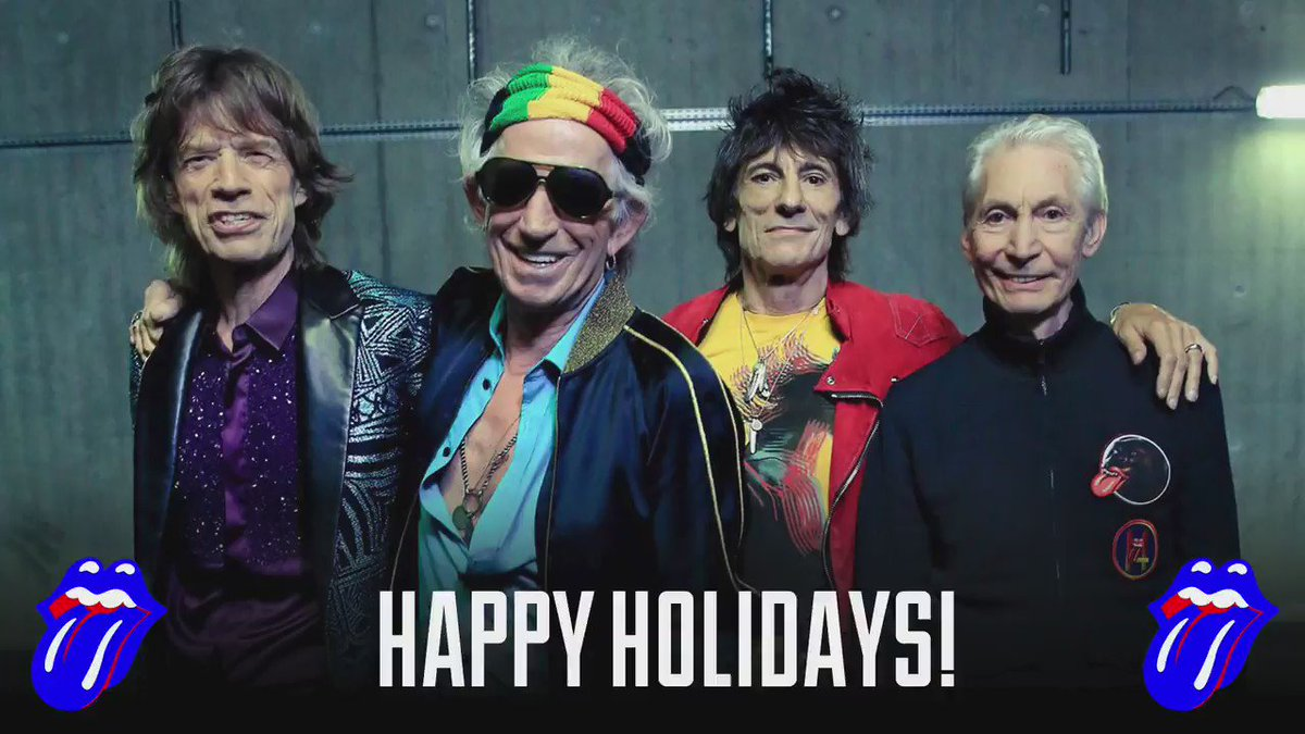 Happy holidays! From Mick, Keith, Charlie & Ronnie #BlueAndLonesome