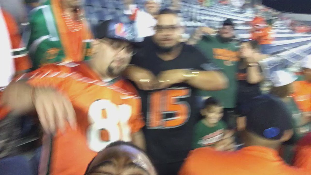 I SAID I BELIEVE IN THAT HURRICANE!!!!! #CanesFam https://t.co/R25FW1y1xC