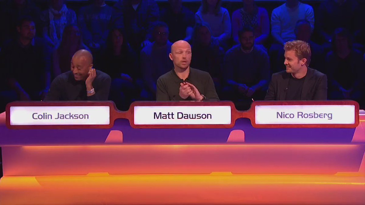 Not a bad thing for @nico_rosberg to have hidden under the desk on @QuestionofSport came in handy for @matt9dawson https://t.co/xJjW3eT4c4