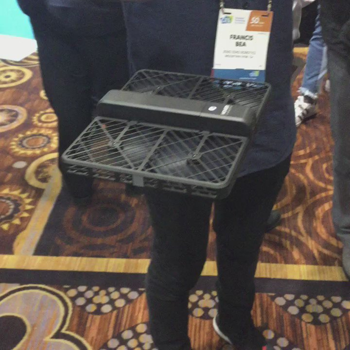 Yup, that just happened. The @hovercamera is floating it's way through #CES2017