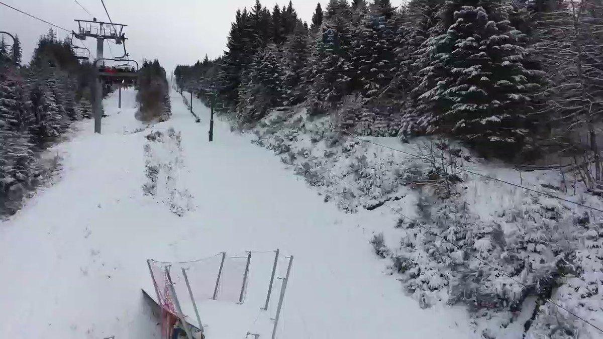 Prenons de la hauteur au @LacBlanc pour voir si la neige est bonne #snow #Alsace #winteriscoming