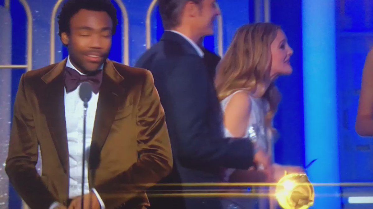 Donald Glover's acceptance speech after winning a Golden Globe for Best TV Series-Musical or Comedy https://t.co/H2n7i76LH5