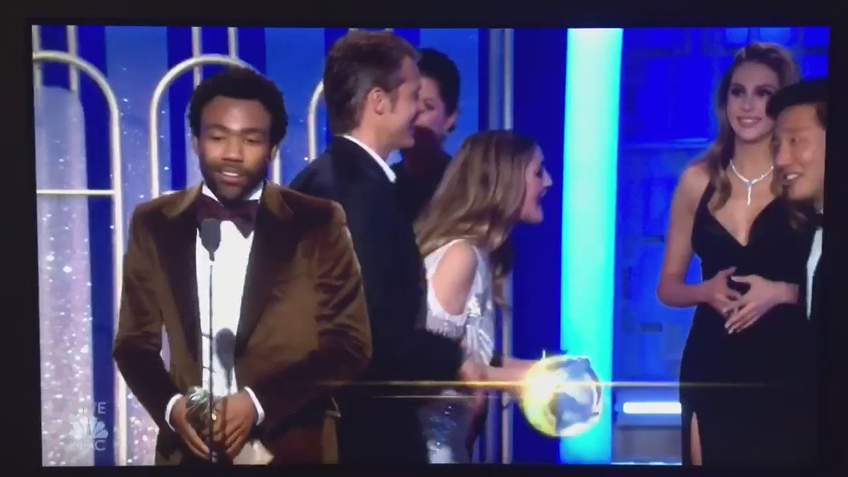 """""""I really want to thank the @Migos for making Bad and Boujee."""" — @donaldglover #GoldenGlobes"""