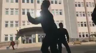 Video from the security alert in Gaziantep. One of the three militants, a suicide bomber, was killed by security forces