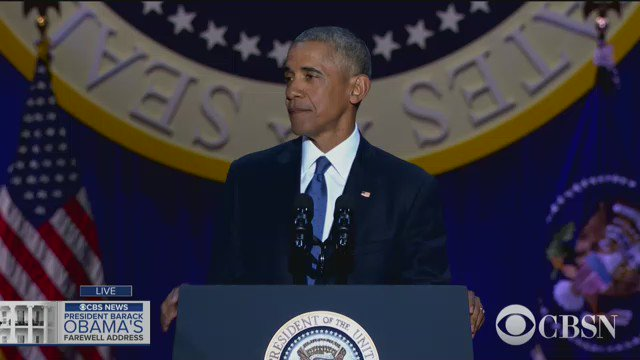 POTUS thanks Michelle Obama: Girl of the South Side for the past 25 years... you have made the country proud