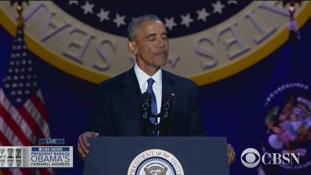 My fellow Americans, it has been the honor of my life to serve you. I won't stop. I will be right there with you for all my remaining days - Obama