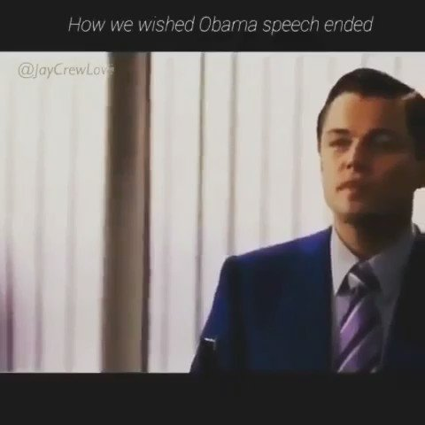 ... how we wished Obama's speech ended