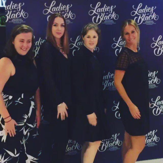We're @ACMNAustralia LADIES IN BLACK *clap clap* big LOVE for this musical! 😻 #ladiesinblackau https://t.co/c8vD8XEX7q