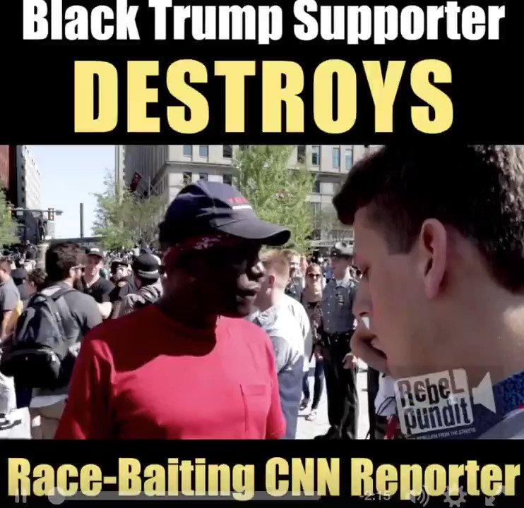 """BAM @realDonaldTrump Black Guy Destroys """"Fake News"""" @CNN's Race-Baiting Reporter!  https://t.co/6zDsbndewG via @RichardWeaving @BEL777"""
