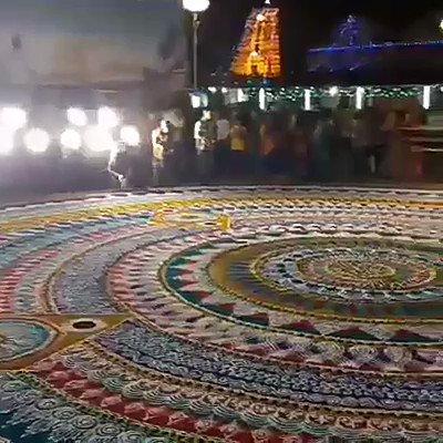 Shringeri World's largest and the most beautiful rangoli .thanks to @shakkuiyer https://t.co/JMYjzI4bHz
