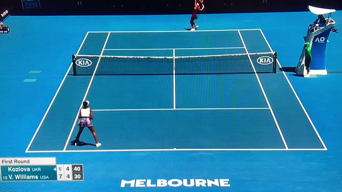 Venus Williams with everything but the mic drop. #AusOpen @espntennis https://t.co/S5q6unqVTO