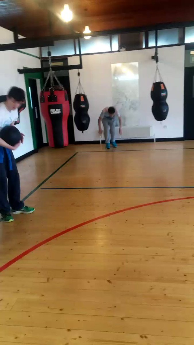 Our Ty students being put through their paces at  Olympic Boxing Club Mullingar .