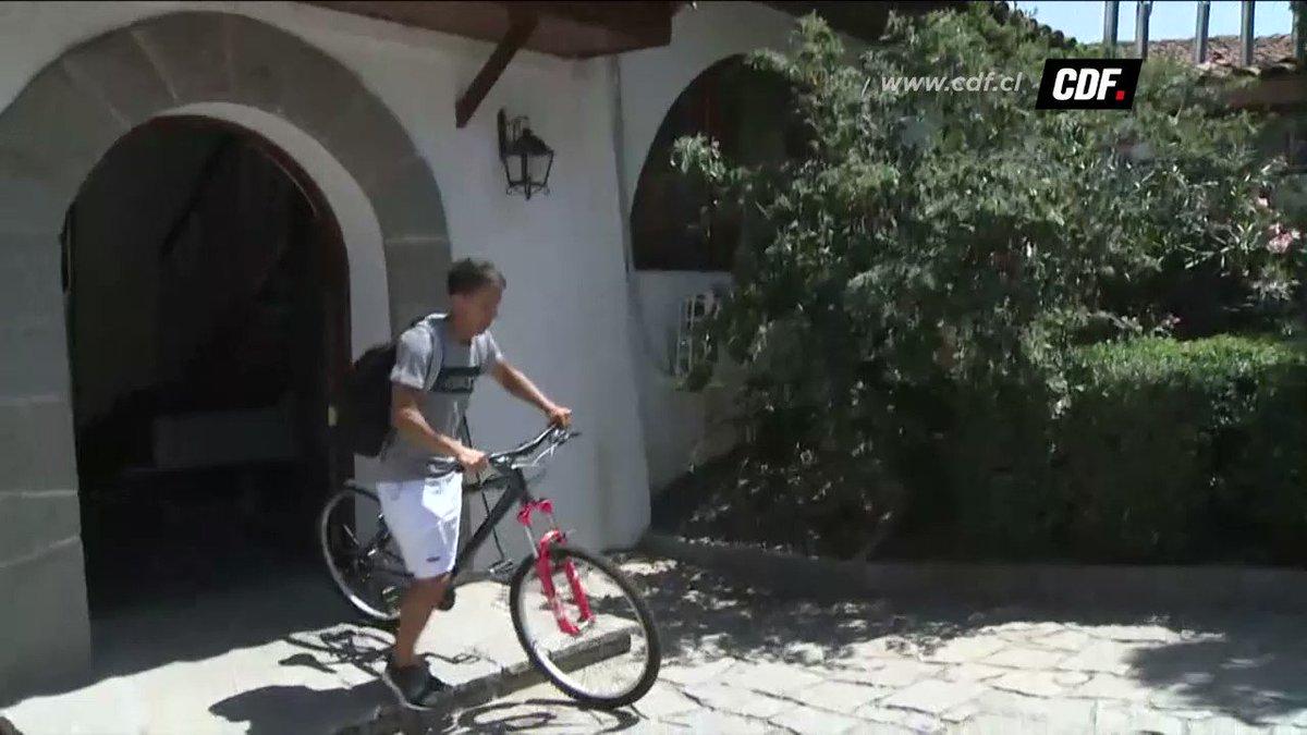 ¡Sorprendimos a @Diego_Buona!   El talento de #LosCruzados va a entrenar en bicicleta