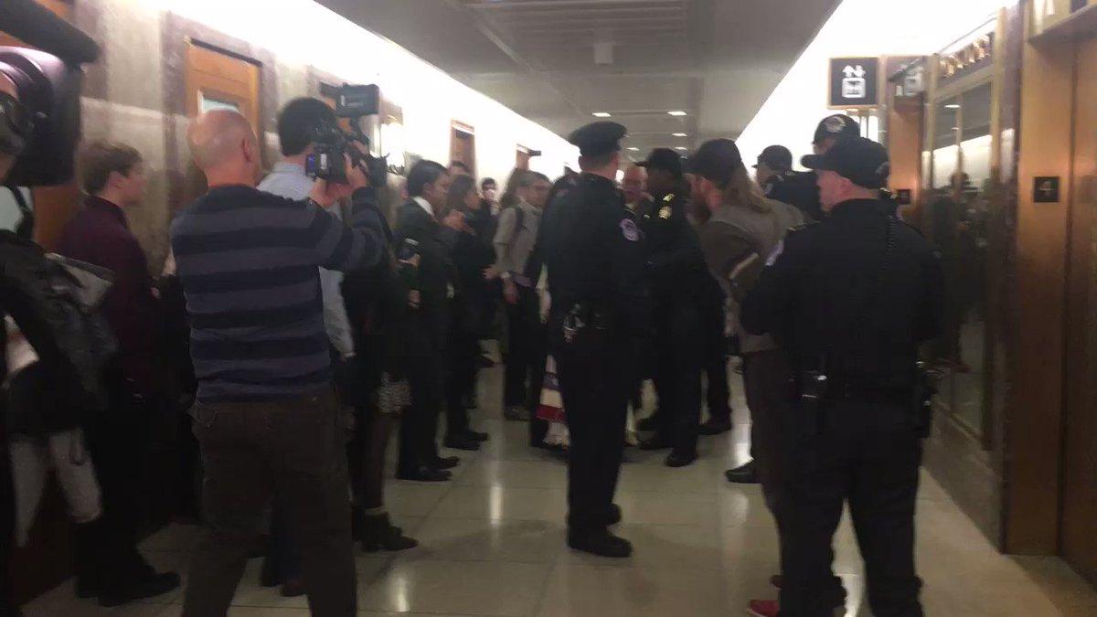 BREAKING: Native American elder arrested at Pruitt EPA hearing - standing up for water and land #StopPruitt #NoDAPL https://t.co/j9nvZ8QOAZ