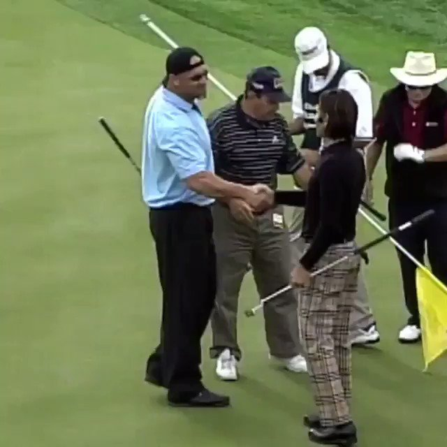 Never gets old..... RT @Sporf: TIP: Never mess with Bill @Goldberg...even on the golf course.
