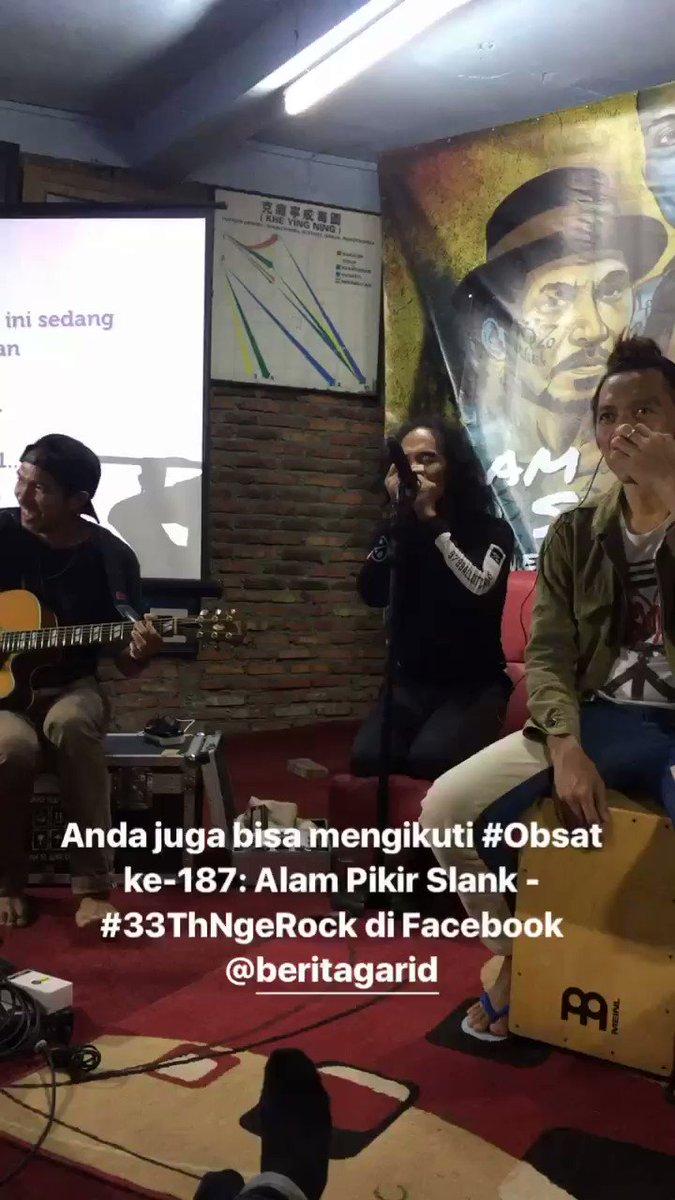 Dua lagu jadi pembuka #Obsat #33ThNgeRock @Slankdotcom https://t.co/EvmXVwXnoO