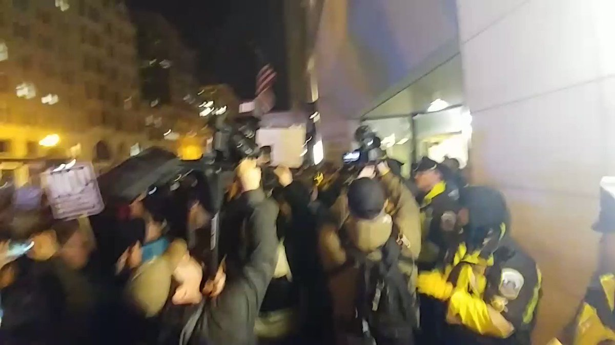 BREAKING: Anti-Trump protesters maced outside DC #DeploraBall, details...