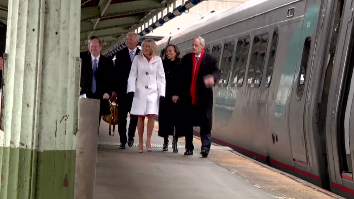 The Biden family just boarded their @Amtrak train home to delaware #netde @NBCPhiladelphia https://t.co/CQYOmSWEE4
