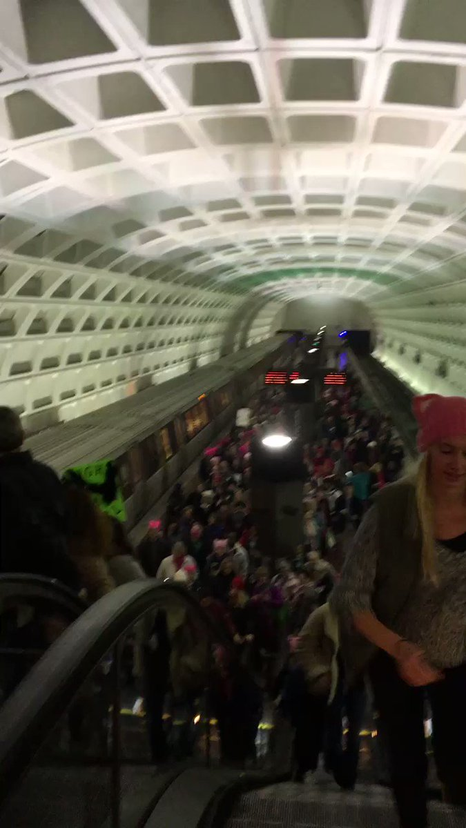 Taking over DC Metro #WomensMarch! https://t.co/6lUhSpGZyu