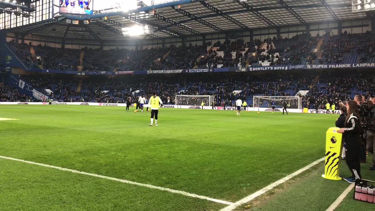 The players have finished their warm up. 10 minutes until kick-off. #C...