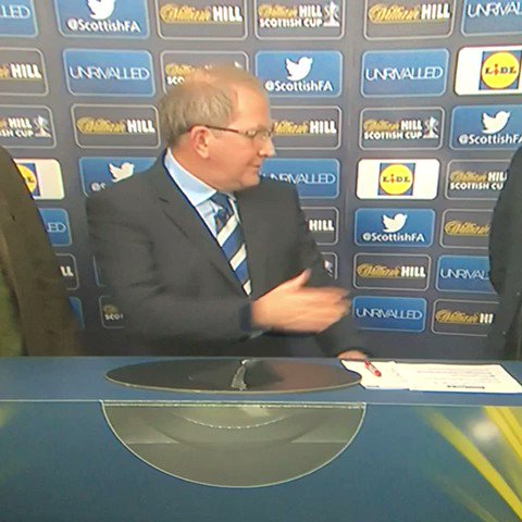 Fair play to Rod Stewart doing the Scottish Cup Draw after necking 15...