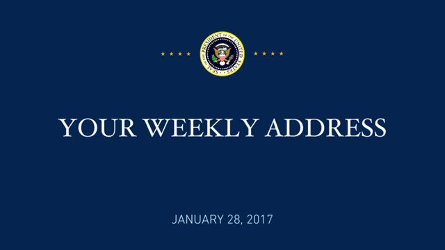 YOUR WEEKLY ADDRESS: https://t.co/iCUns5IOJ5
