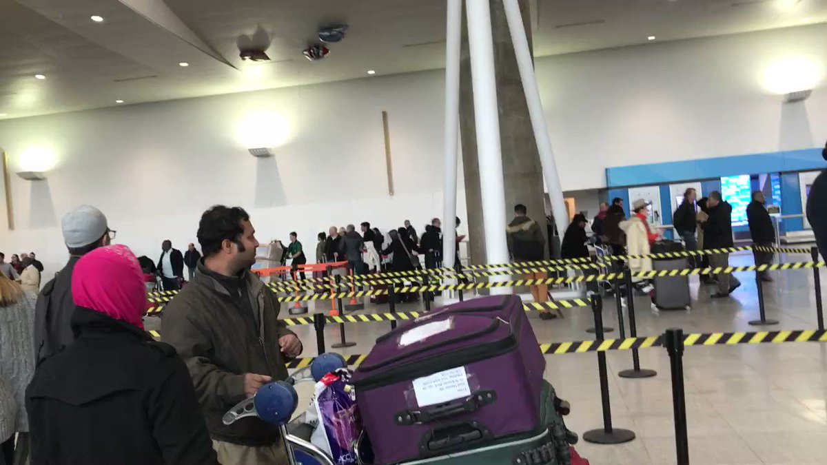 Just landed in JFK, and this is the first thing I saw. There is military and police everywhere. This is real. https://t.co/v0bpbbXhxb