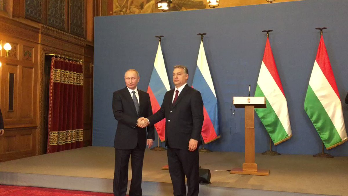 Press-conference of Putin and Orban is over