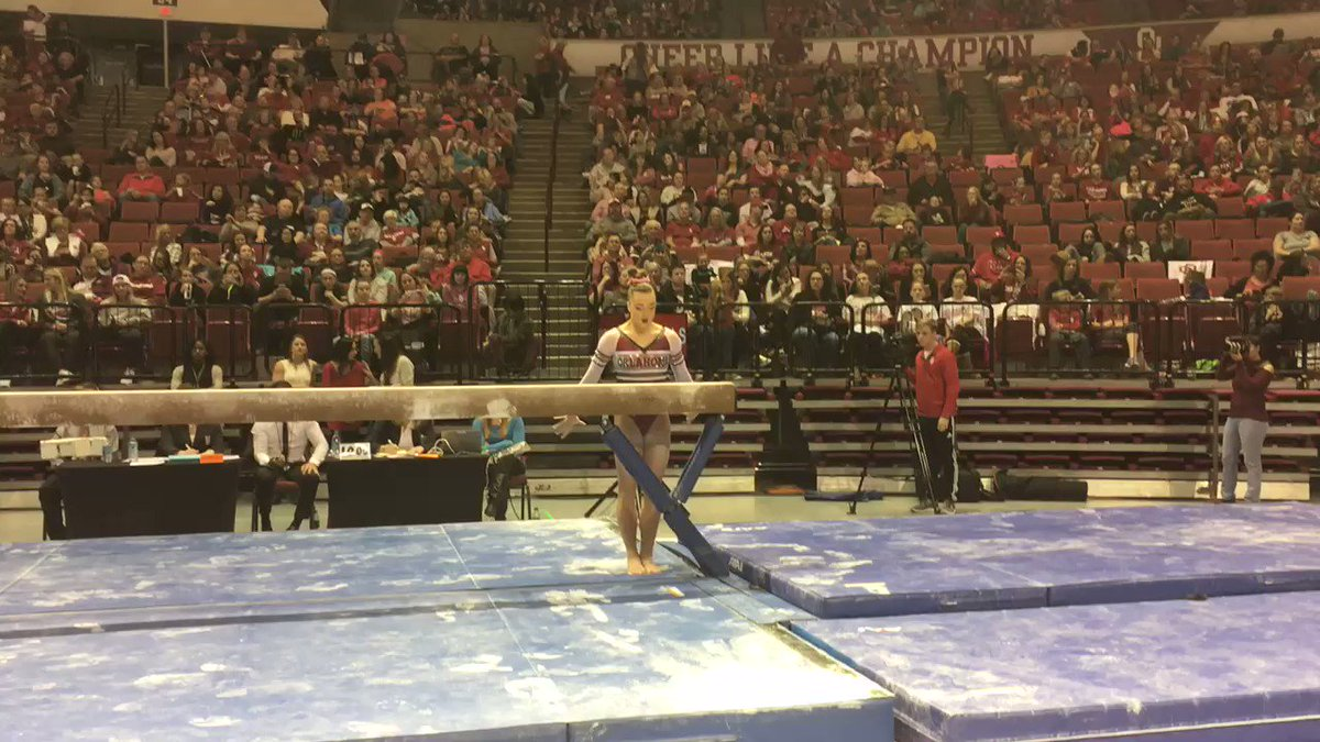Flawless. Watch @MagsGotSwag12 nail a perfect 10.0 on beam!! #CommitTo3 #SwaggieMaggie https://t.co/l44CXLoQ7L