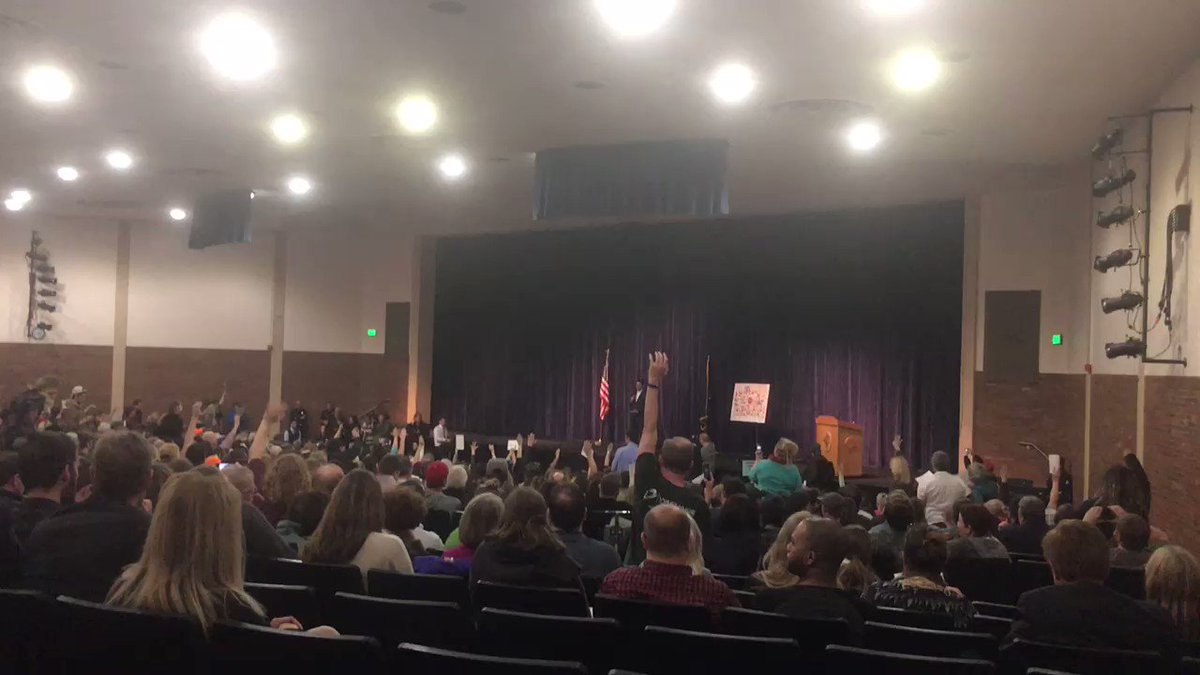 Anger erupts at Republican town halls