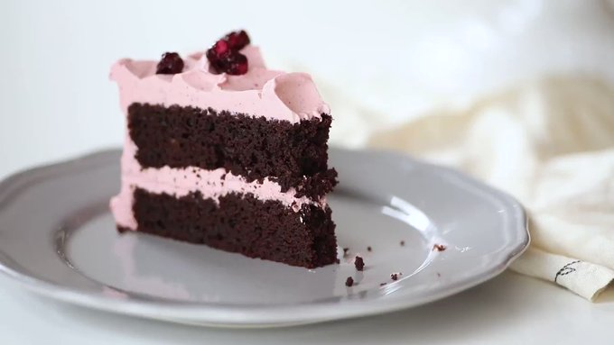Pretty in Pink: Chocolate Cherry Layer Cake for Valentine's Day