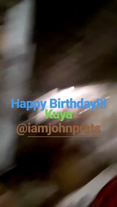 NEW: YASSI w/ FPJ\s Ang Probinsyano cast & crew singing happy birthday to John Prats iamratedkay