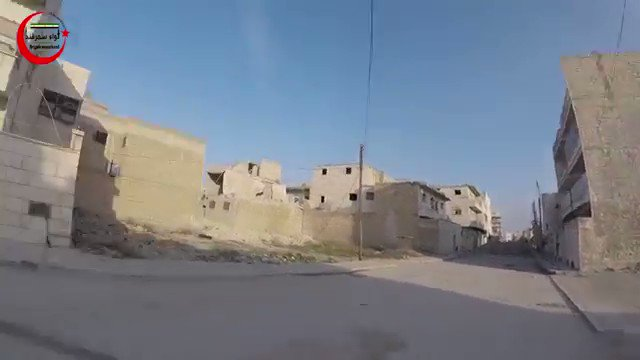 GoPro showing FSA Samarkand Brig. advancing in urbanized areas of Al-Bab.