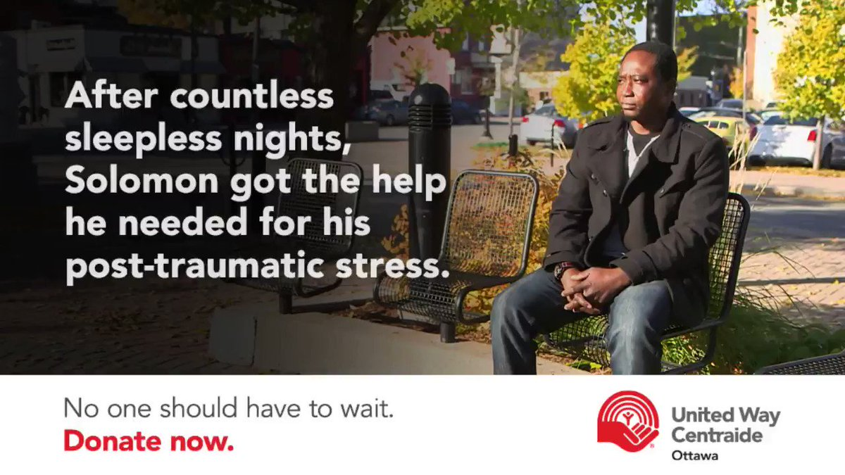 Solomon was struggling with #PTSD. Thanks to @OttawaOCISO he got the support he needed. Watch his story: https://t.co/CJ0c3orX87