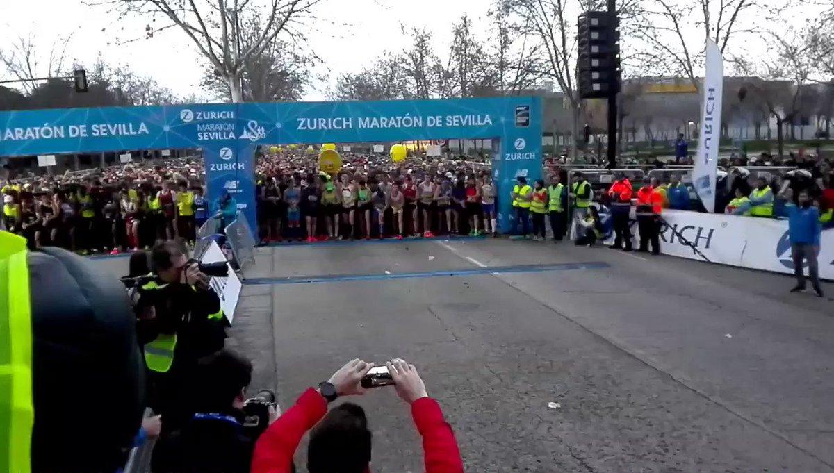 🙌🙌🙌 Ya está en las calles de Sevilla el #ZurichMaratonSevilla17  A dis...