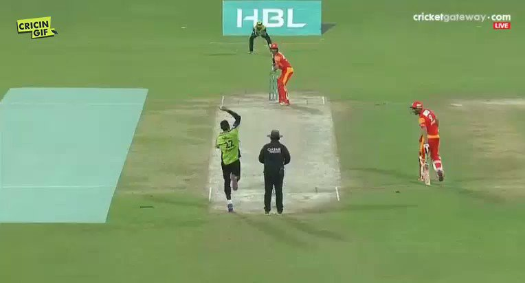 18.5 SIX! Mohammad Irfan to Shadab Khan watch https://t.co/7VLpZp1jmg...