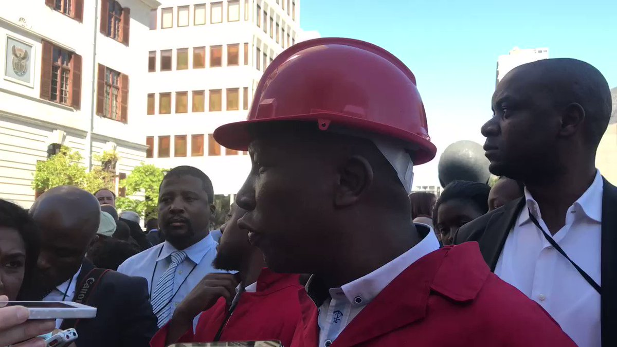 Julius Malema says Gordhan unites the country #Budget2017 CA https://t...