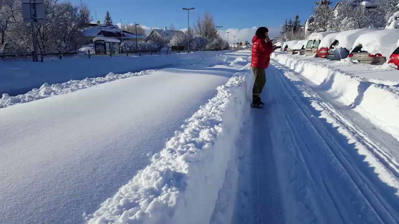 Thumbnail for Iceland becomes winter wonderland after record snowfall