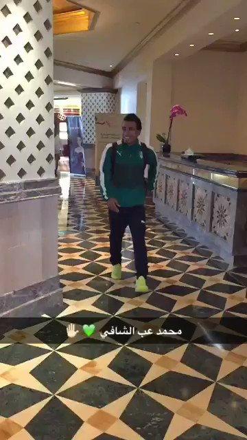 فيديو .. مغادرة لاعبي #الأهلي الى ملعب المباراة .. محمد عبدالشافي ..#ا...